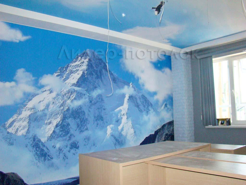 Натяжные стены с фотопечатью фото