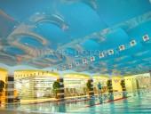 ПВХ натяжной потолок в фитнесс-центре