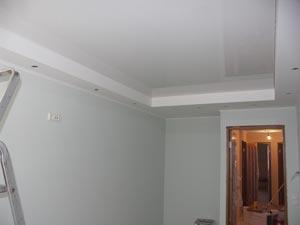 Монтаж потолка завершен