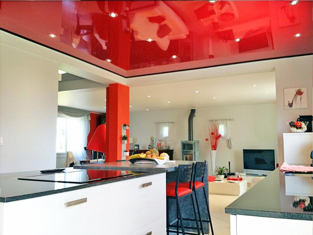 как спроектировал черный натяжных потолков на кухню фото дают
